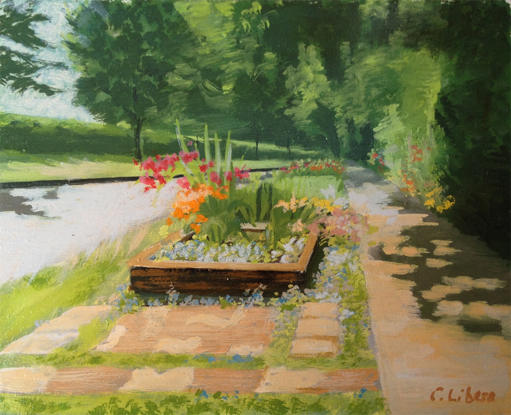 Street Garden $125 Oil on board